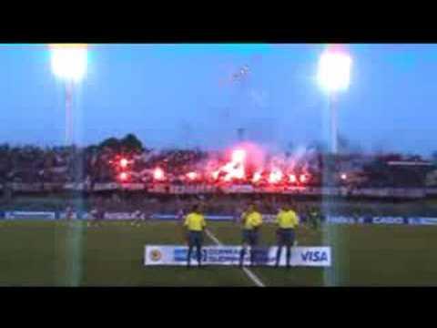 Salida Ñublense primer partido Copa Sudamerica 2008 - Los REDiablos - Ñublense