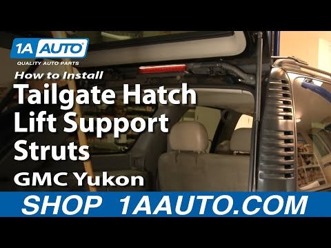 How To Install Replace Tailgate Hatch Lift Support Struts Tahoe Yukon 01-04 1AAuto.com