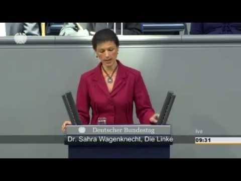 Сара Вагенкнехт в Бундестаге Германии. 19.03.2015г