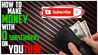 Link to Application: https://goo.gl/ujpT0DLink To Partnership Video: https://goo.gl/DBwdGw In this video, we are going to talk about How To Make Money on YouTube without any Subscribers. If you have a channel that has 0 subscribers, you can still make money on youtube. Making money on youtube without any subscribers sounds difficult but you can easily partner your channel without any subscribers and start making money on your youtube videos. Essentially, in this video, I am going to show you 3 ways that you can start to make videos that will get views when you don't have any subscribers. If you are looking to make money over the summer as a teenager on youtube, this is a really good way to get started. If you are a teenager and want to make money on youtube over the summer, these methods will work too! So let me know what you guys think about How To Make Money on YouTube without any Subscribers