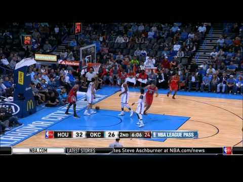 Dwight Howard's thunderous alleyoop over Nick Collison