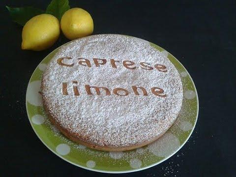 video ricetta: torta caprese al limone