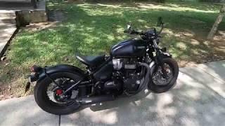 "1. BIKES: Triumph Bonneville ""Bobber Black"" 1200 (On-Bike!) - Beauty & Beast!   EvoMalaysia.com"