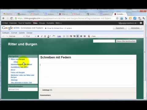 Google Sites Seiten erstellen
