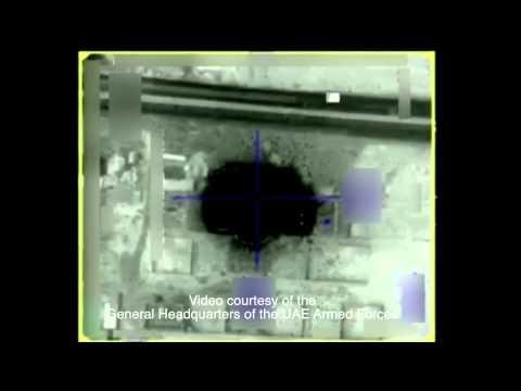 UAE airforce jets target rebel strongholds in Yemen - video