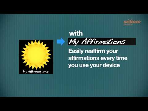 Video of Affirmations Widget