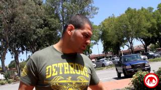 Watch Cain Velasquez put on a leather vest and talk about his love for motorcycles