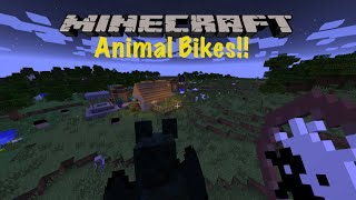 Minecraft PC - Animal Bikes Mod Walkthrough - Ride the EnderDragon!