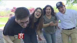 It's the most talked-about new quad on campus at Quinnipiac University. The Ciacciarella quadruplets have arrived on campus.