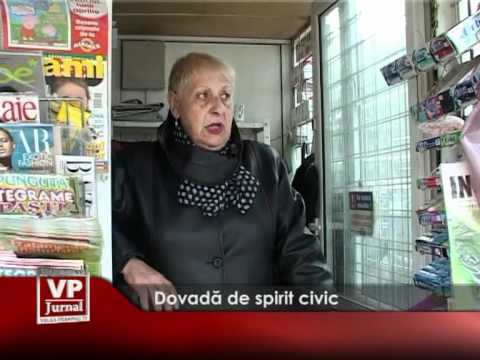 Dovadă de spirit civic