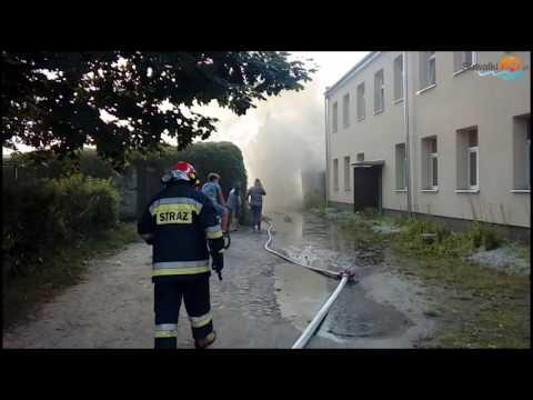 Pożar garażu i przybudówki przy ul. Noniewicza