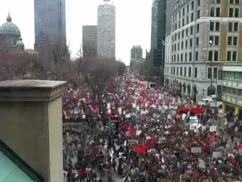 Timelapse-video van protest op 22 maart