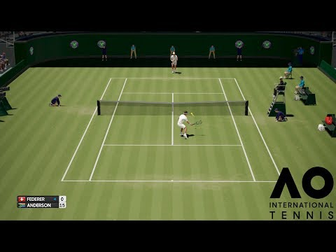 Roger Federer vs Kevin Anderson - AO International Tennis - PS4 Gameplay