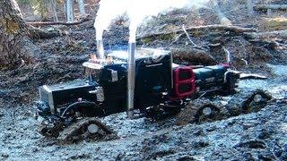 RC ADVENTURES - Muddy Tracked Semi-Truck 6X6X6 HD OVERKiLL & 4X4