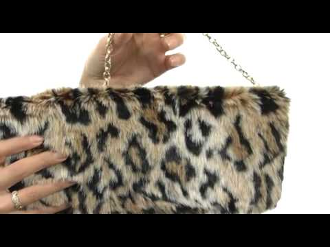 Juicy Couture Hollywood Hills Faux Fur Clutch SKU:#8269881