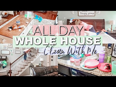 ALL DAY WHOLE HOUSE CLEAN WITH ME 2019|EXTREME CLEANING MOTIVATION|COMPLETE DISASTER CLEAN WITH ME