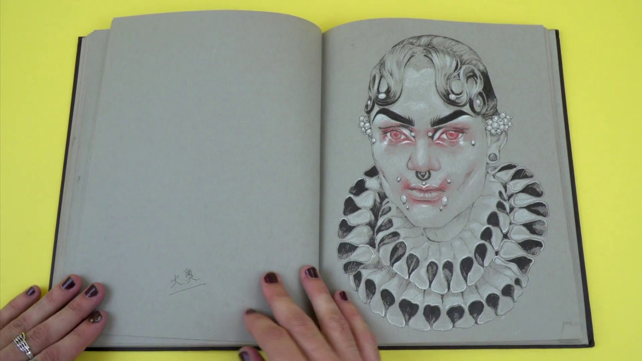 Colin Verdi's sketchbook vid