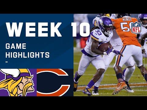Vikings vs. Bears Week 10 Highlights | NFL 2020