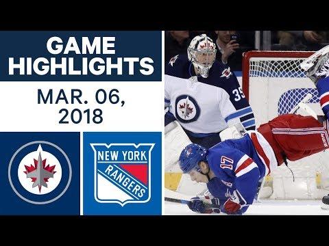 Video: NHL Game Highlights | Jets vs. Rangers - Mar. 06, 2018