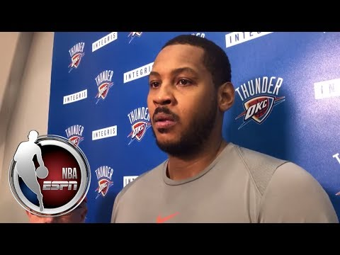 Video: Carmelo Anthony on the Thunder buying in on the defensive end | NBA on ESPN
