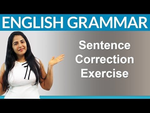 Find 10 Mistakes - English Sentence Correction Exercise