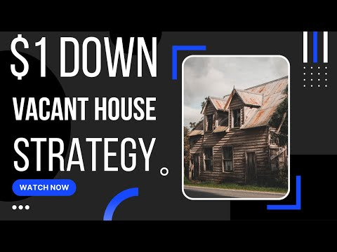 How to purchase vacant homes for $1.00 down and a 340 credit score [subject to financing]