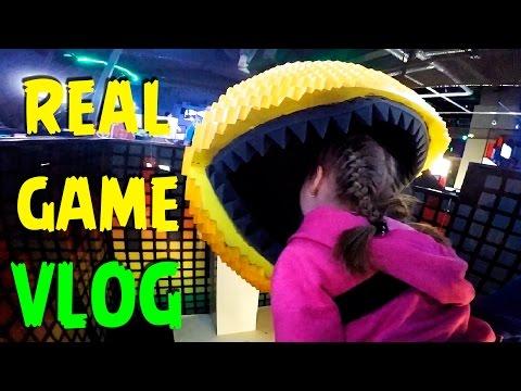 VLOG: КВЕСТ для детей, я в компьютерной ИГРЕ. ЛЕТСПЛЕЙ аркады. VIRTUAL REALITY LETSPLEY arcade