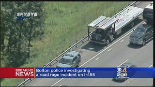 Massachusetts State Police are looking for two men involved in a road rage incident on Interstate 495 in Bolton. The Driver of the truck was punched and slashed or stabbed but did not suffer serious injury. WBZ-TV's Liam Martin reports.