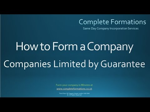How to Form a Company Limited by Guarantee - Complete Formations