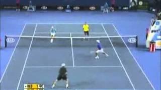Tennis Highlights, Video - The comdy tinnes match ( andy roddick - roger federer - rafael nadal - novak djokovic ) part 2