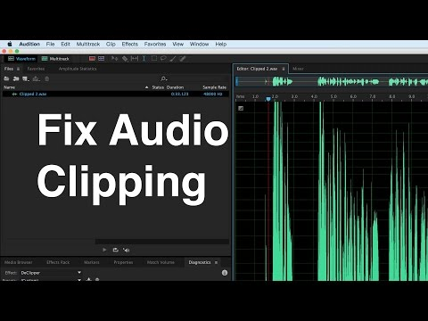 Fix Audio Clipping in Audition