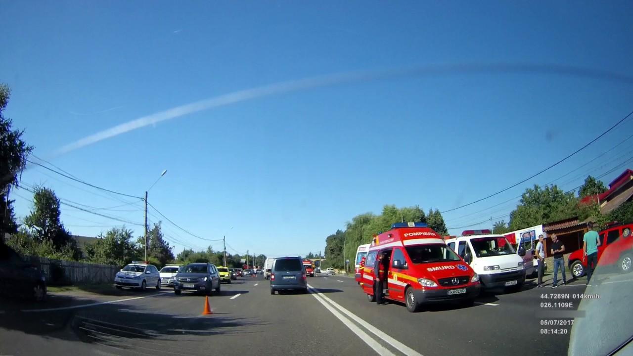 Accident rutier grav - DN1 Ciolpani