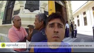 Encadenados en la Municipalidad de Paraná