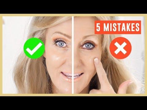 5 Biggest Makeup Mistakes On Mature Eyes Tutorial Over 50 | Fabulous50s