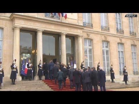 Γαλλία: Eπίσημο γεύμα στο Προεδρικό Μέγαρο  προς τιμήν των αρχηγών κρατών και κυβερνήσεων