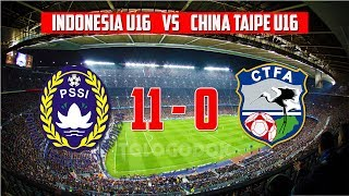 Video Timnas Indonesia U16 Sikat China Taipei 11-0 ● 18/6/2017 MP3, 3GP, MP4, WEBM, AVI, FLV Maret 2018
