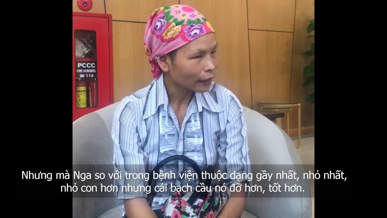 Chị Nga chi sẻ về quá trình điều chị ung thư vú