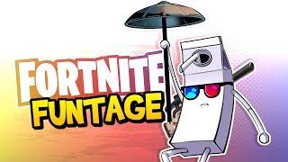 Fortnite Battle Royale FUNTAGE! - MLG Trickshot, The BEST Skybridge & More!