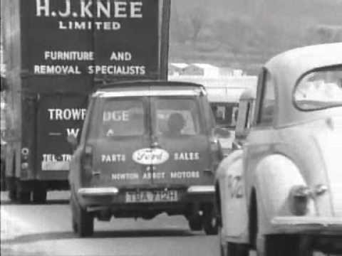 1970s - Newsreel of holiday traffic jams in Devon, England, early 70s, great for the car spotter... Look out for the Austin 3 Litre and the Aston-Martin DBS!