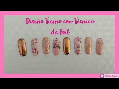 Diseños de uñas - Diseño con Foil Tierno  TENDENCIA EN UÑAS