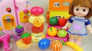 Video Baby doll fruit juice maker and kitchen surprise eggs play Doli story MP3, 3GP, MP4, WEBM, AVI, FLV Juni 2019