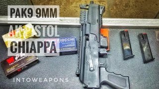 Review of the Chiappa PAK-9 AK (https://goo.gl/G3xJzs) Pistol in 9mm.  Sent to Chiappa for warranty repair and received it back fixed in three weeks.  Check out below for Helpful Links and More Videos!During the original testing of the PAK9, the retaining pin on the bolt carrier used to hold the spring-loaded firing pin in place, slipped out and the firing pin came free of the bolt, resting within the receiver, subsequently jamming the gun.  Not an uncommon failure for pins to work loose, and I don't hold any quality control issues on Chiappa for the failure…  Overall the pistol has great fit and finish, so I believe the pin failure was just a fluke.During this range trip, as shown in the video, one of the side mounting Picatinny rails came loose from the pistol, but I did locate the screw and determined it just needed some thread lock to keep it in place.  I may end up just removing the rail from the other side as I don't plan on using them and it would reduce the overall weight a bit.HELPFUL LINKS:**AK-47 Pro Tactical Micro Tool:  https://goo.gl/G3xJzs**PAK9 AK Pistol Preferred RED DOT Sight:  https://goo.gl/a5hZIi--VIDEO on First Chiappa PAK 9mm Pistol Review:  https://youtu.be/rgtCXokeceY?list=PL9C7CE82850DBE22BThanks for Watching, and don't forget to Like, Share, and Subscribe!MOST POPULAR Videos:  https://goo.gl/UqPGF3 ALL PLAYLISTS:  https://goo.gl/jYIdR0 FIND IntoWeapons HERE:Facebook:  https://www.facebook.com/IntoWeapons/ Google+:  http://plus.google.com/+intoweaponsInstagram: http://www.instagram.com/intoweapons/ All Rights Reserved © 2017 IntoWeapons – Duplication, transfer or reuse of this material or excerpts thereof, is prohibited.  Send inquiries for use of this material to IntoWeapons.