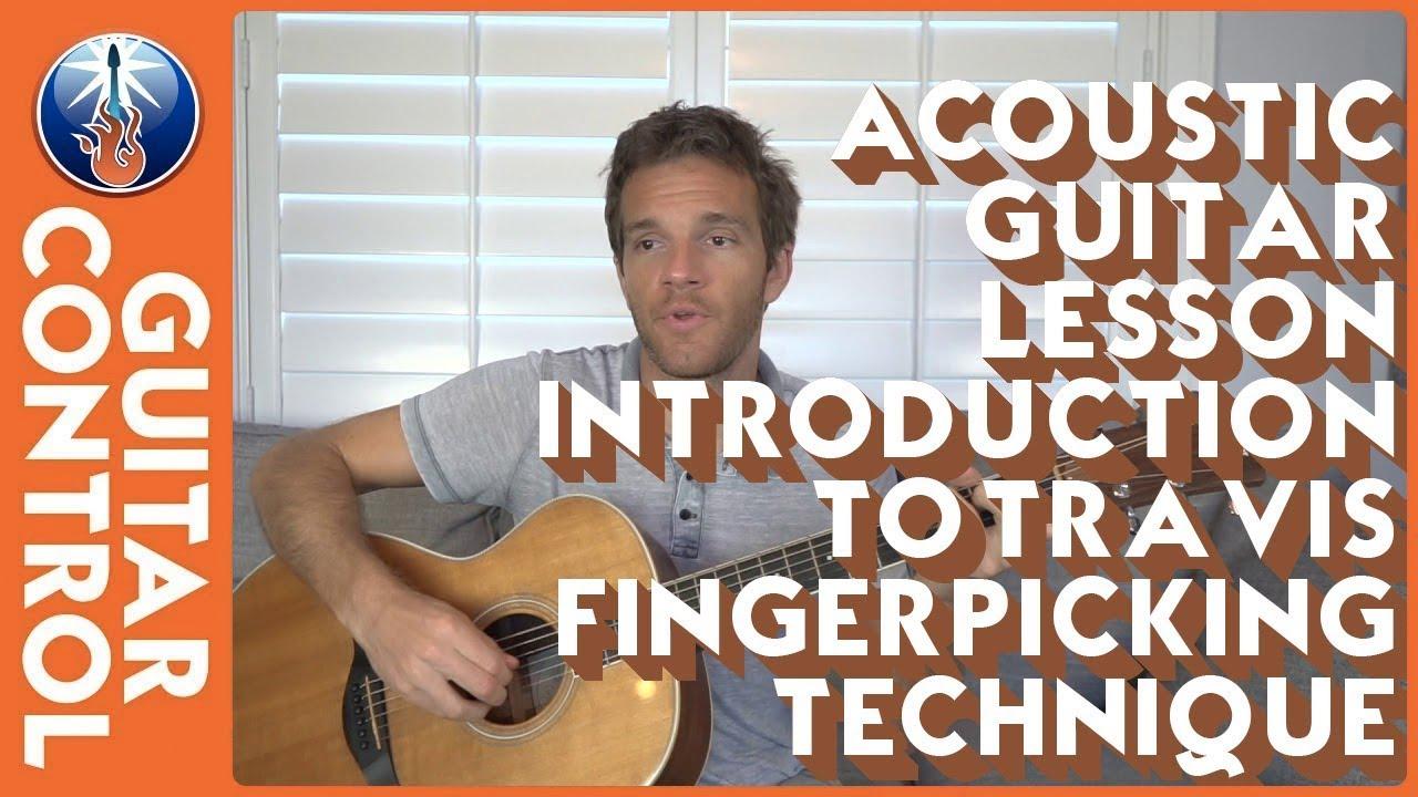 Acoustic Guitar Lesson – Introduction To Travis Fingerpicking Technique