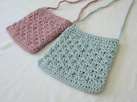 How To Crochet A Pretty Shell Stitch Purse / Bag
