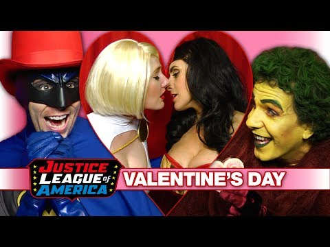 A Super Sexy JUSTICE LEAGUE VALENTINE'S DAY