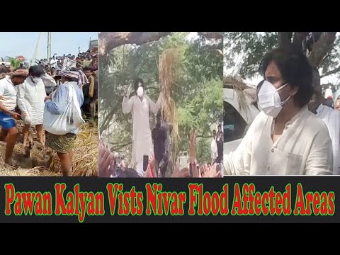 JanaSena Pawan Kalyan Vists Nivar Flood Affected Areas Vizagvision