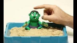 Baby Hulk Superhero Stop motion * Play Doh and Cartoons For Kids 💕 Superhero Babies