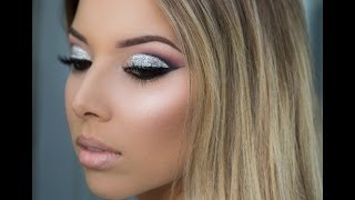 Go hit the club extra hard with this dramatic glitter cut crease makeup! Follow me! Instagram: @lustrelux http://instagram.com/lustrelux Blog: http://lustrel...