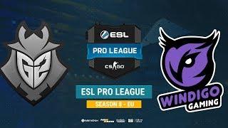 G2 vs Windigo - ESL Pro League S8 EU - bo1 - de_dust2 [Enkanis, ceh9]