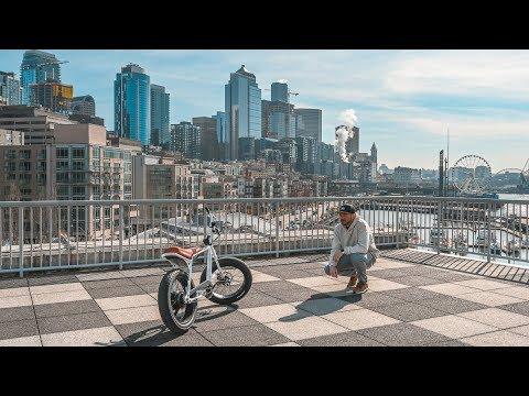 Super 73 z1 ebike cruising around Seattle